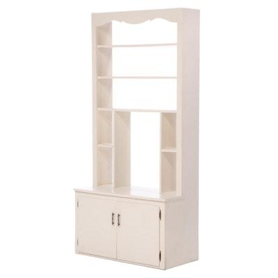 White-Painted Wood Stepback Bookcase