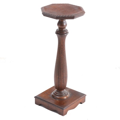 Oak Pedestal Stand, Early 20th Century