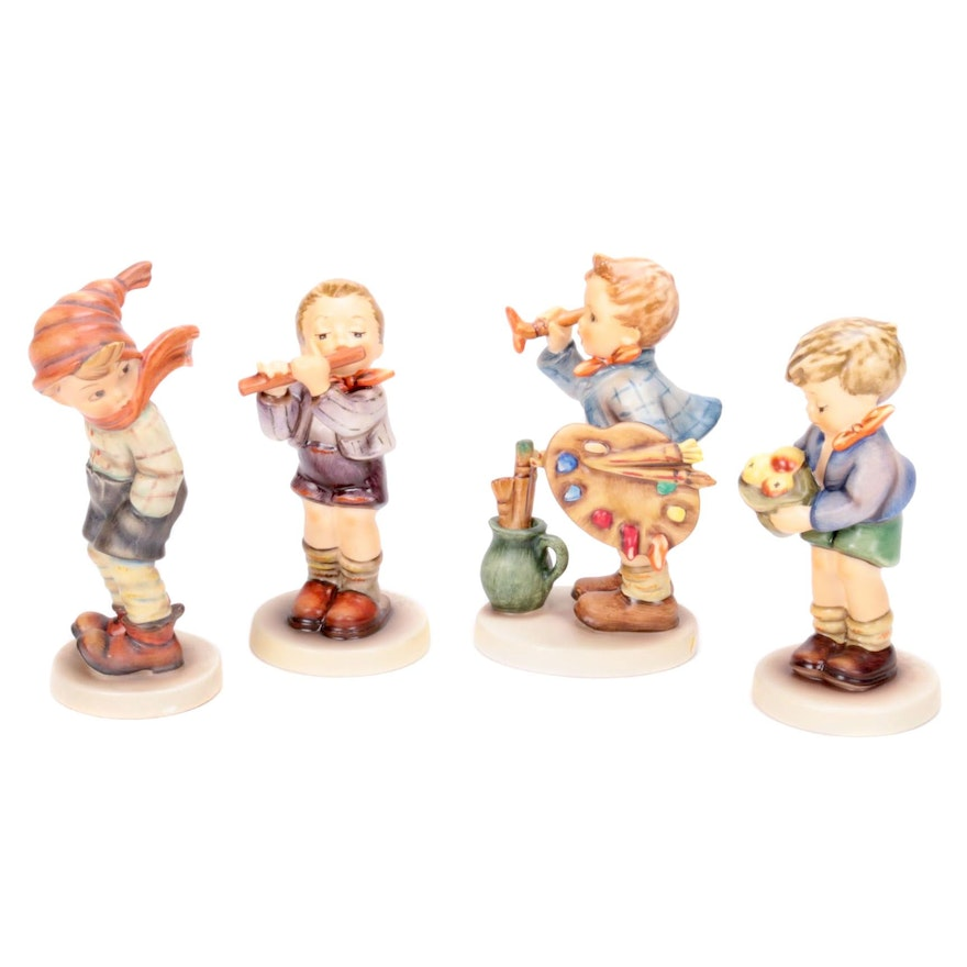 "1935 ""March Winds"" Hummel and Collector's Club Porcelain Figurines"