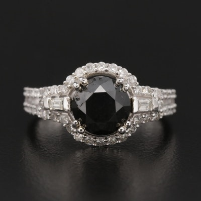 14K White Gold 2.74 CTW Diamond Ring