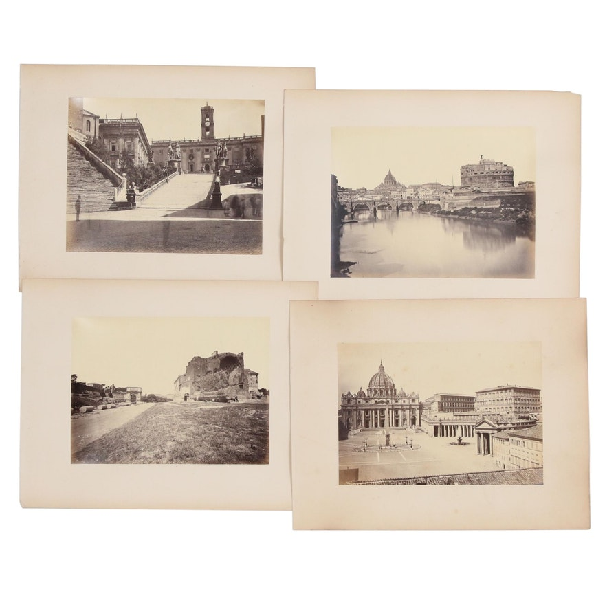 Albumen Photograph Views of Rome after Fratelli D'Alessandri, Late 19th Century