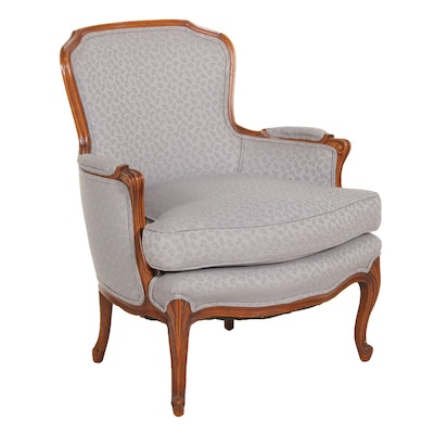 French Provincial Style Upholstered Armchair