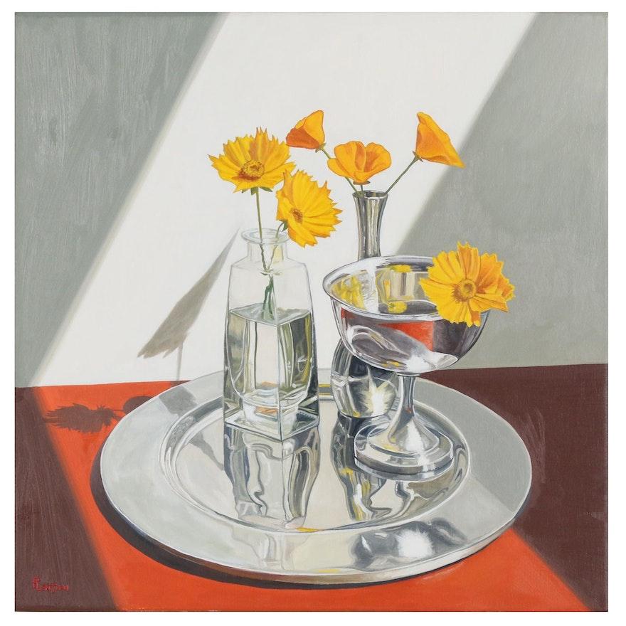 "Peter Lentini Still Life Oil Painting ""Aureus"""