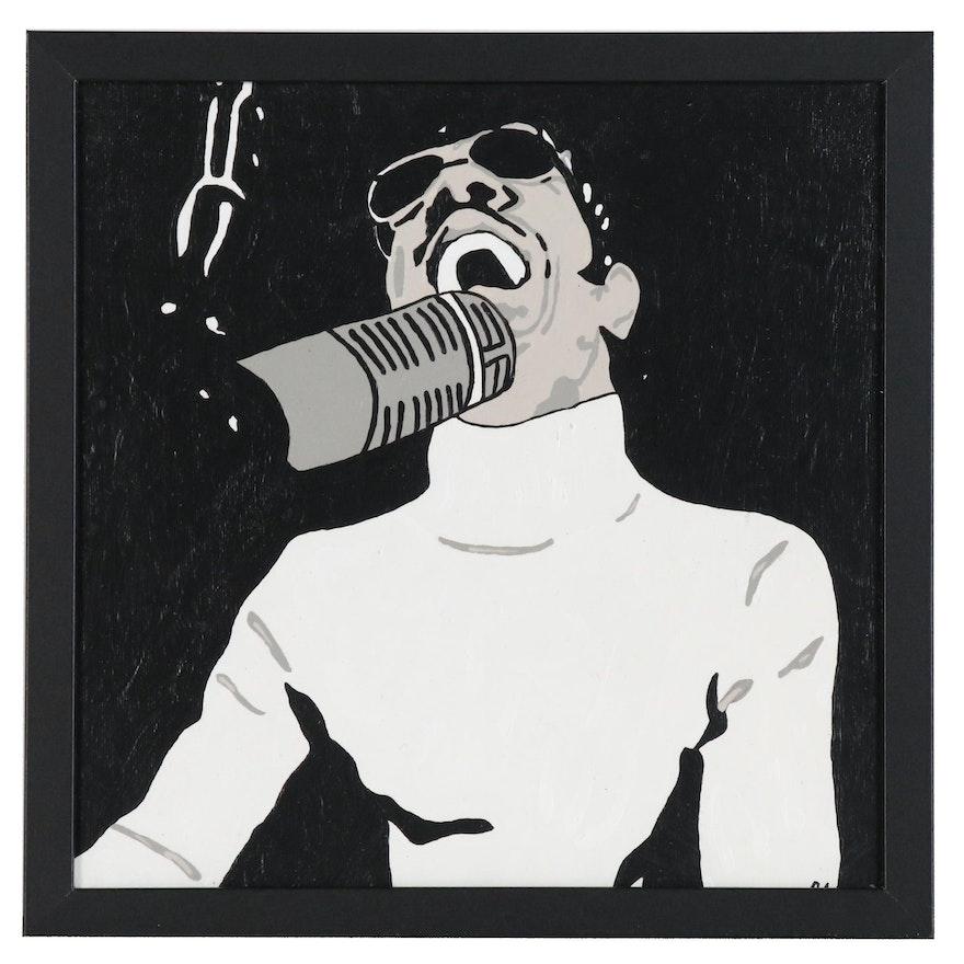 Chuck Loft Acrylic Portrait of Stevie Wonder