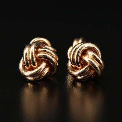 14K Yellow Gold Knot Cufflinks