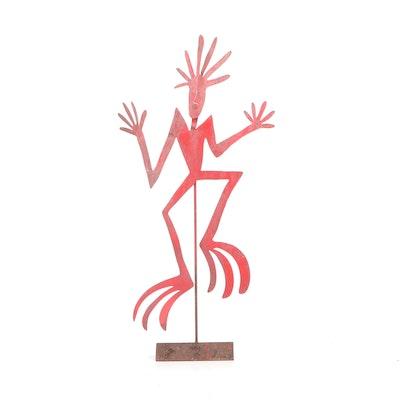 Southwestern Style Metal Figural Garden Sculpture