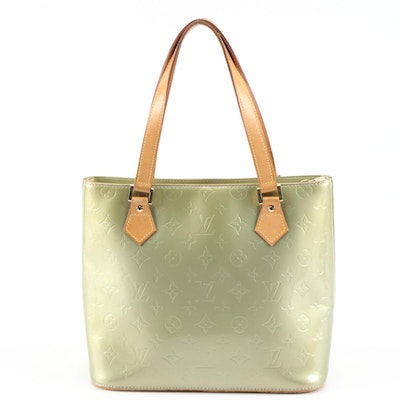 Louis Vuitton Houston Tote Bag in Monogram Vernis and Vachetta Leather