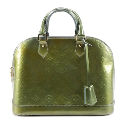 Louis Vuitton Alma PM Bag in Monogram Vernis