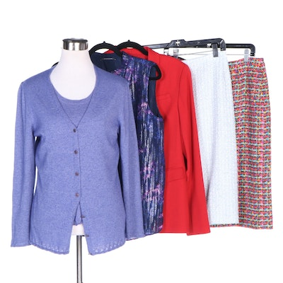 Escada, Tahari and W by Worth Separates Including Cashmere and Silk Cardigan Set