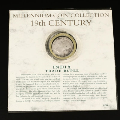 1840 British India Silver Trade Rupee Coin