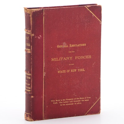 """1876 """"General Regulations for The Military Forces of The State of New York"""""""
