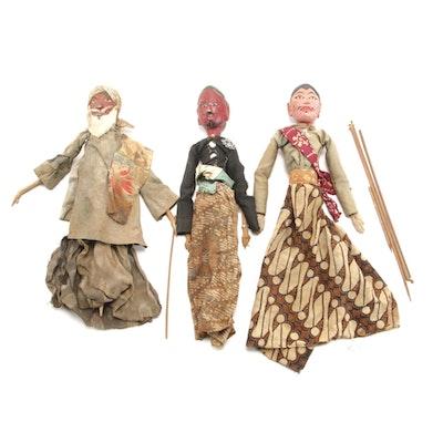 Indonesian Handmade Wayang Golek Wooden Puppets