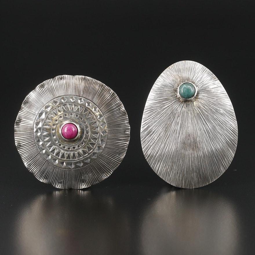 Sterling Silver Quartz Pendants