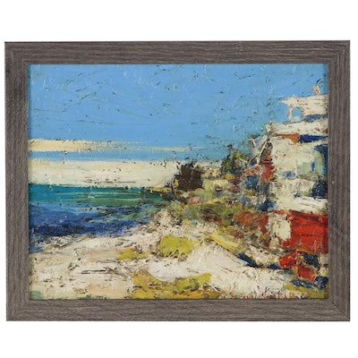 Serguel Novitchkov Oil Painting of Abstract Landscape