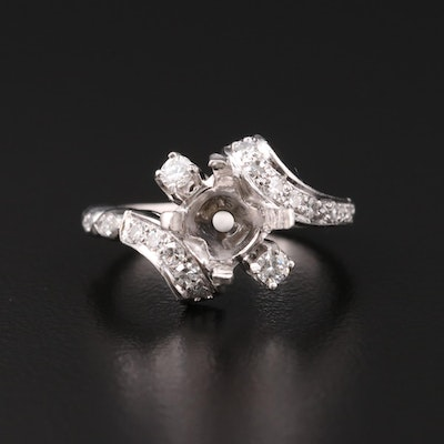 Platinum Diamond Semi Mount Ring