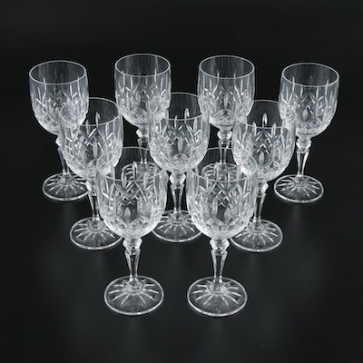 "Galway Crystal ""Longford"" Wine Glasses"