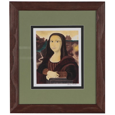 "Beverly Finster Offset Lithograph  ""A Virtuous Woman"""