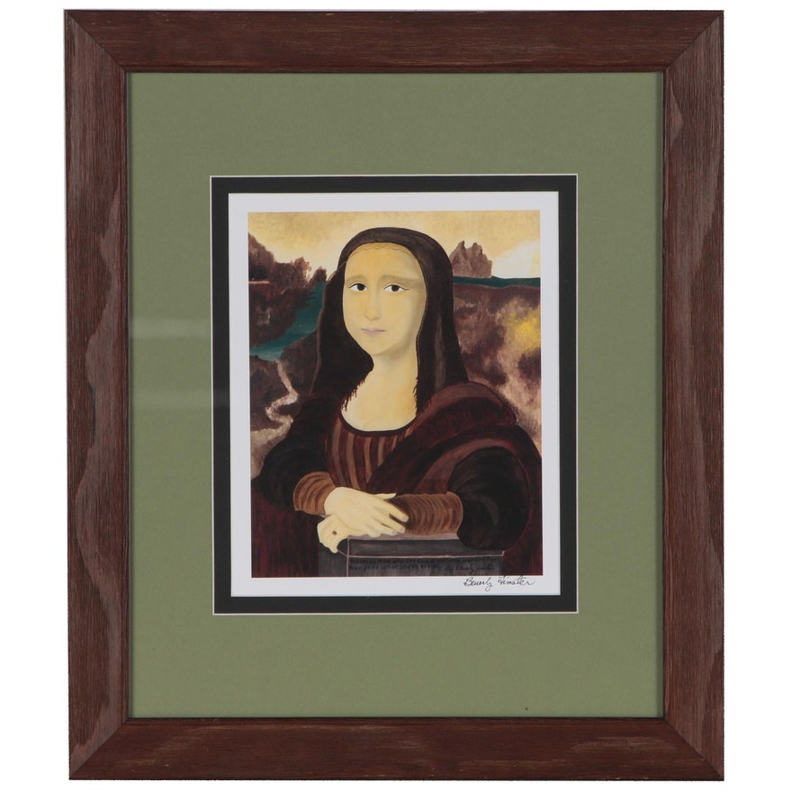 """Beverly Finster Offset Lithograph  """"A Virtuous Woman"""""""