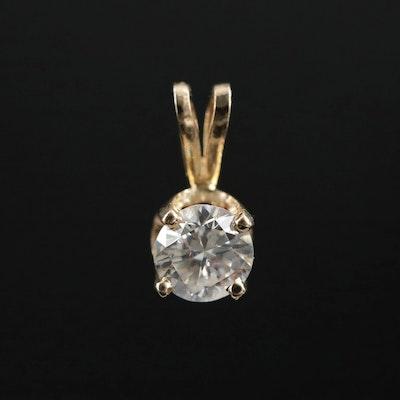 14K Gold 0.60 CT Diamond Pendant