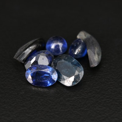 Loose 4.11 CTW Sapphire, Synthetic Sapphire and Black Onyx