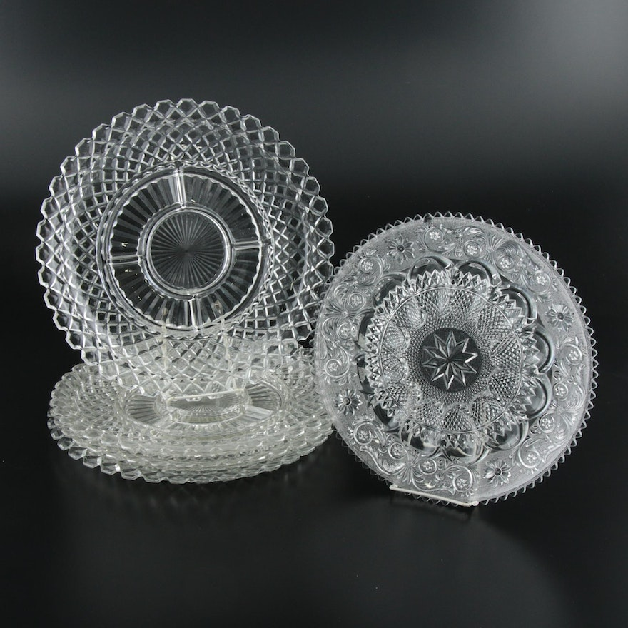 """Anchor Hocking """"Waterford Clear"""" and Other Pressed Glass Serveware"""