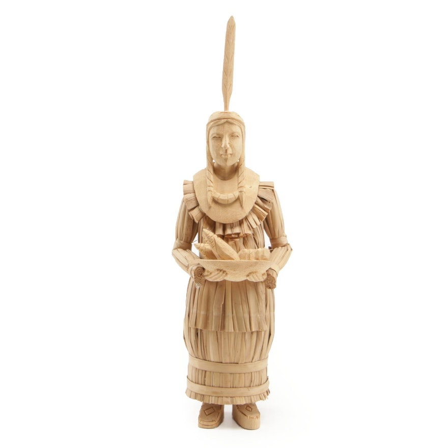 Native American Corn Husk Figural Sculpture