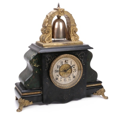 William Gilbert Clock Co. Edwardian Mantel Clock, 1912