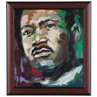 "Adam Deda Oil Portrait ""Martin Luther King"""