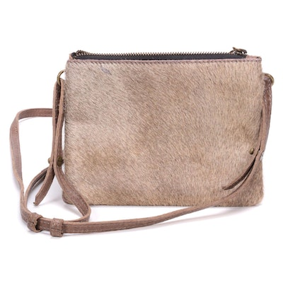 49 Square Miles Calf Hair and Grained Leather Crossbody Bag