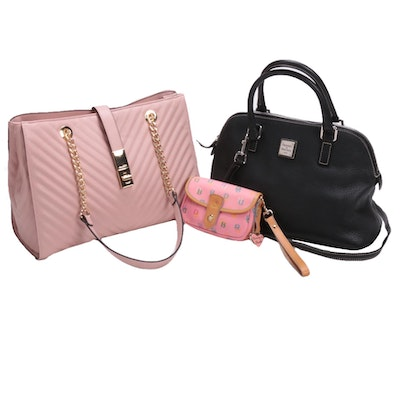 Dooney & Bourke Two-Way Handbag and Wristlet with Aldo Pink Chevron Shoulder Bag