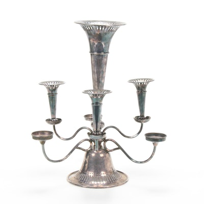 Silverplate Epergne, Late 19th/ Early 20th Century