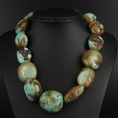 Southwestern Style Beaded Turquoise Necklace