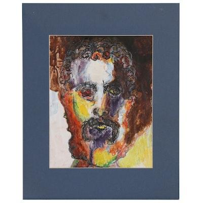 Jane Marks Portrait Drawing of Bearded Man
