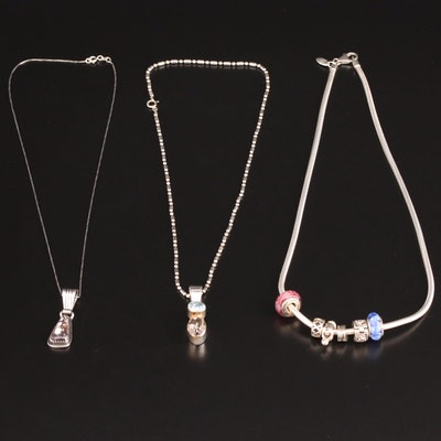 Sterling Silver, Topaz and Jasper Necklaces Featuring Lorren Begay Navajo Diné