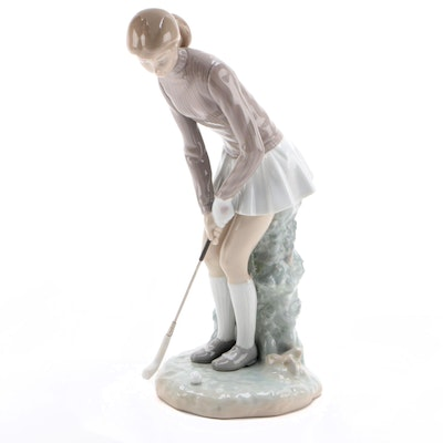 "Lladró ""Golf Player"" Porcelain Figurine Designed by Vicente Martinez, 1977–1984"