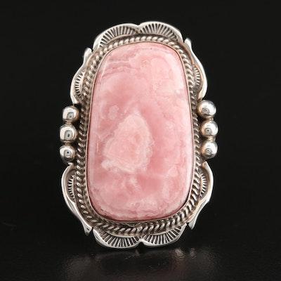 Will Denetdale Navajo Diné Sterling Silver Rhodochrosite Ring