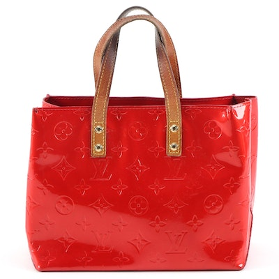Louis Vuitton Reade PM Mini Tote in Monogram Vernis and Vachetta Leather