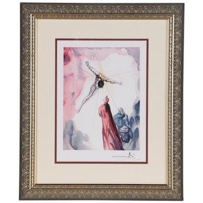 """Giclée after Salvador Dalí """"Paradise Canto 14: Apparition du Christ"""""""