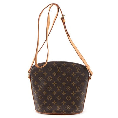 Louis Vuitton Drouot Crossbody Bag in Monogram Canvas and Vachetta Leather
