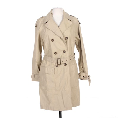 Women's Vince Double-Breasted Belted Trench Coat