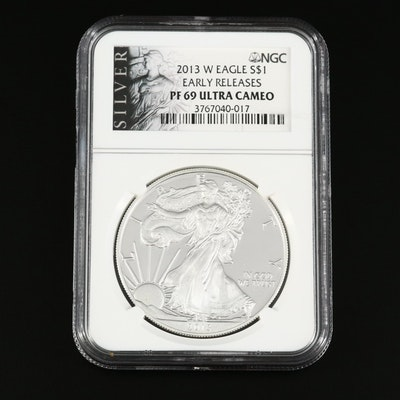 NGC Graded PF69 Ultra Cameo 2013-W American Silver Eagle