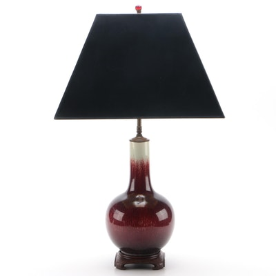Chinese Sang de Boeuf Table Lamp