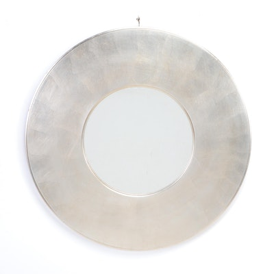 Silver Leaf Circular Wall Mirror