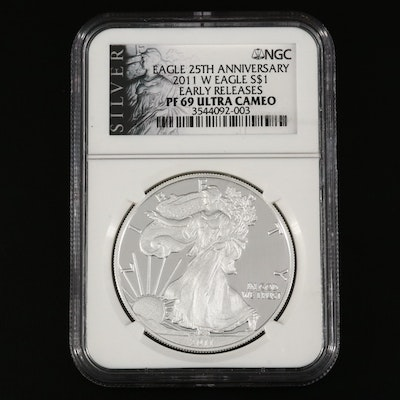 NGC Graded PF69 Ultra Cameo 2011-W Proof American Silver Eagle