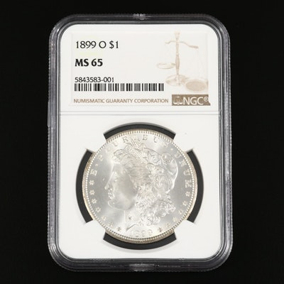 NGC Graded MS65 1899-O Morgan Silver Dollar