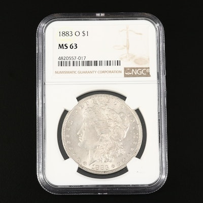 NGC Graded MS63 1883-O Morgan Silver Dollar