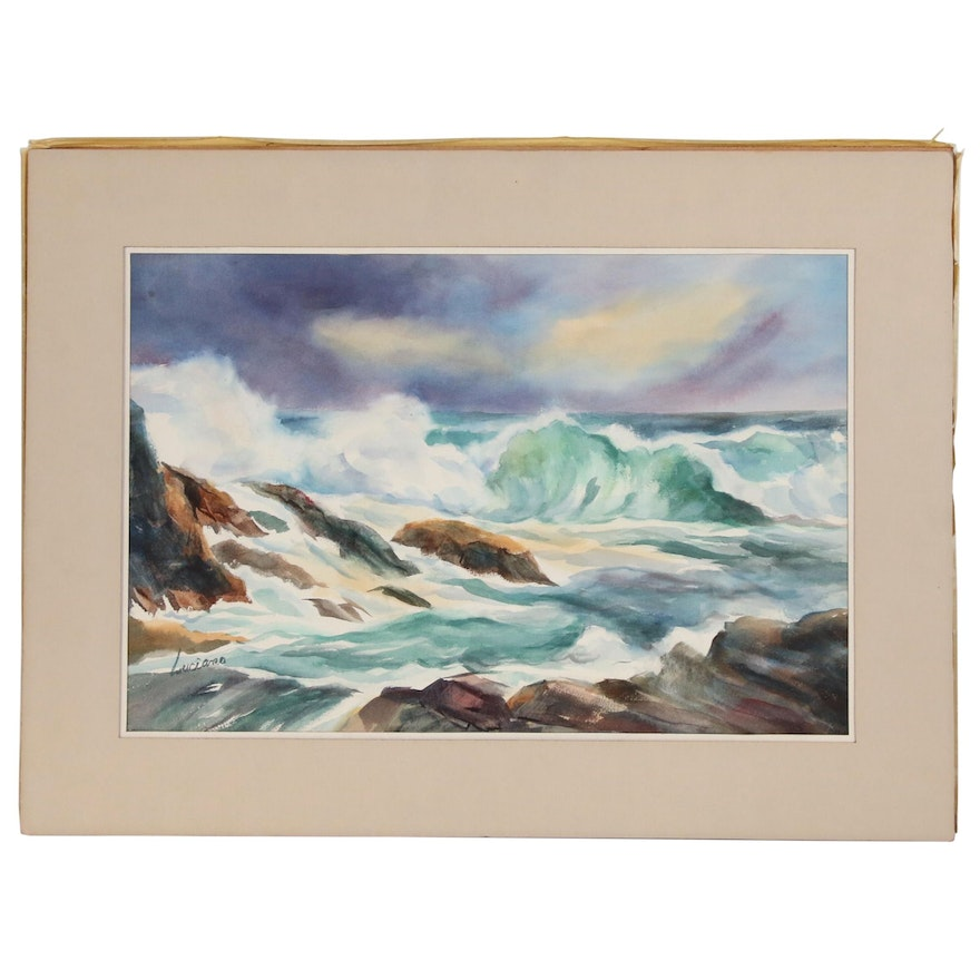 Lydia Luciana Seascape Watercolor Painting