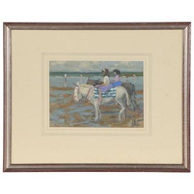 "Dudley Bailey Oil Painting ""Donkeys in Sunlight"""
