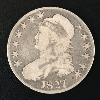 1827 Capped Bust Silver Half Dollar