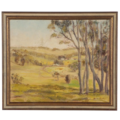 Edith Bunter Landscape Oil Painting